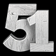 White Wooden Numbers