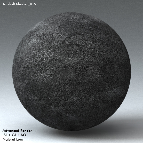 Asphalt Shader_015 - 3DOcean Item for Sale