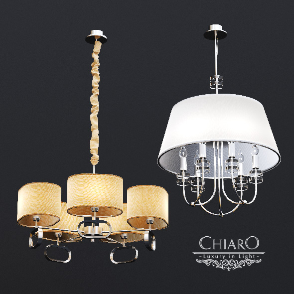3DOcean Chairo Palermo chandeliers 16011293
