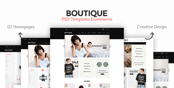 Boutique - Ecommerce PSD Template