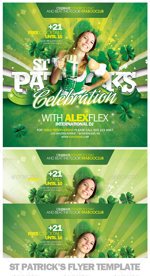 St Patricks Day Flyer Template - Clubs & Parties Events