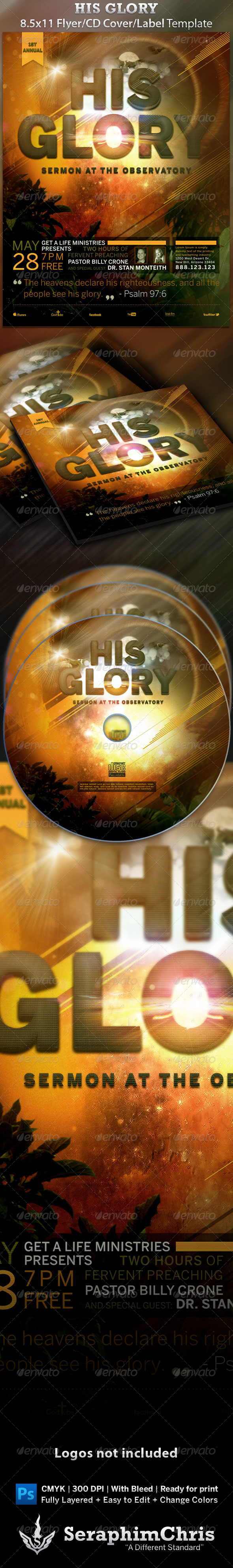 GraphicRiver His Glory Flyer and CD Template 1603870