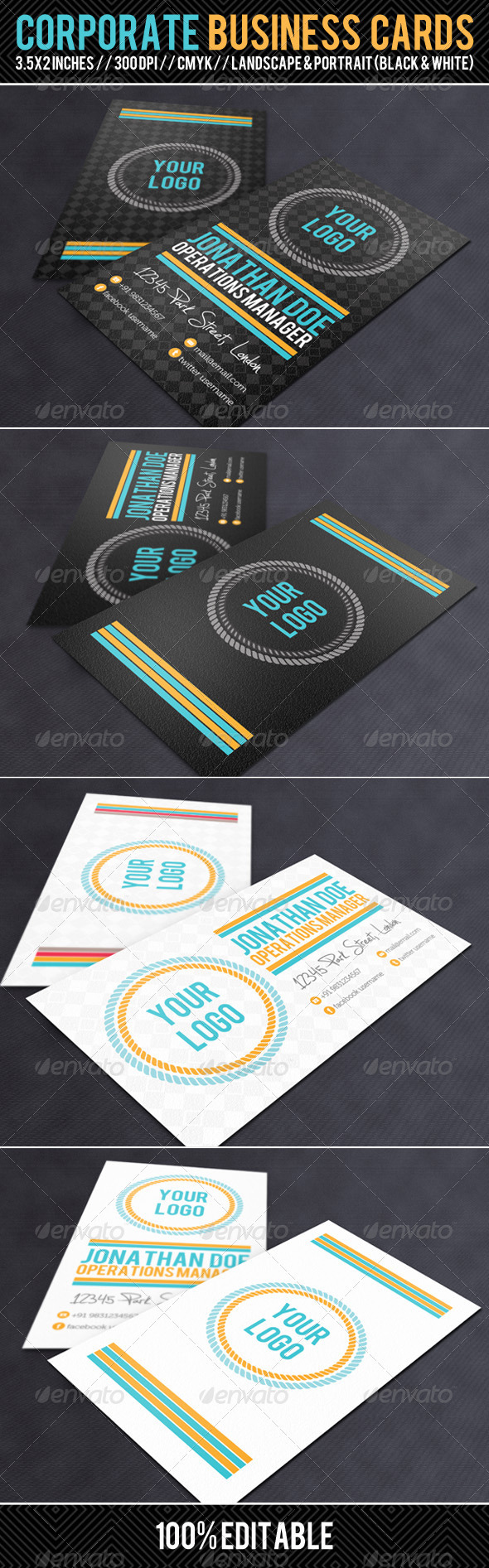 Corporate Business Cards - Creative Business Cards
