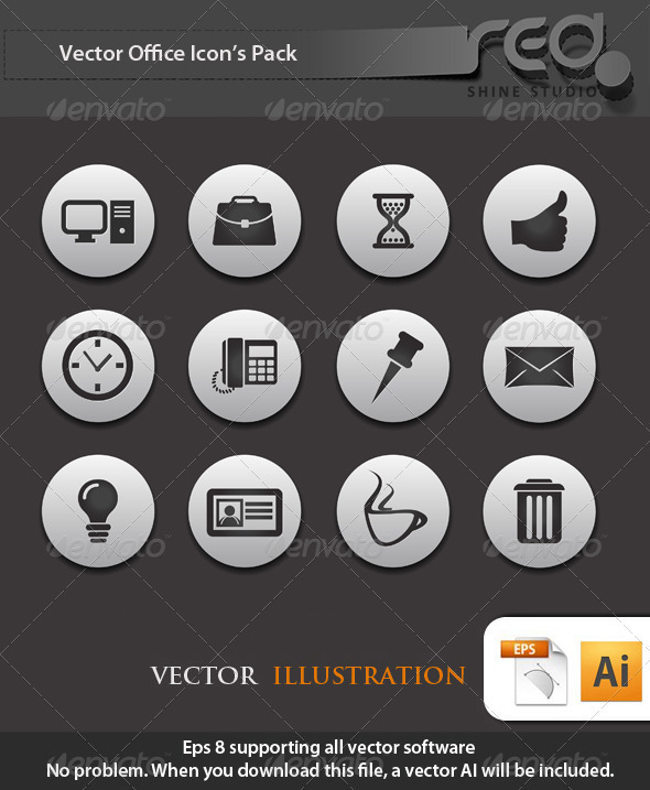 GraphicRiver Office Business Icons Vector Pack 2 1603922