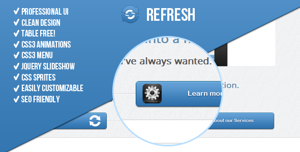 Refresh! Premium Landing Page