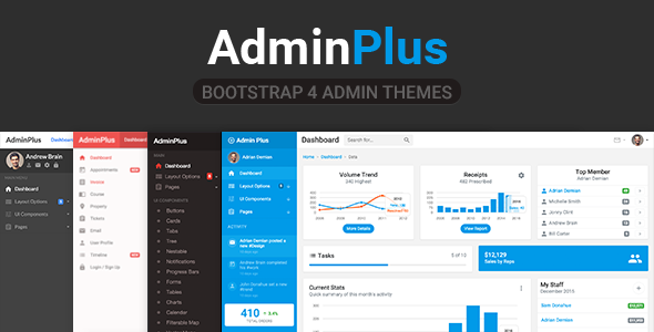 23. AdminPlus Premium - Bootstrap 4 Admin Dashboard
