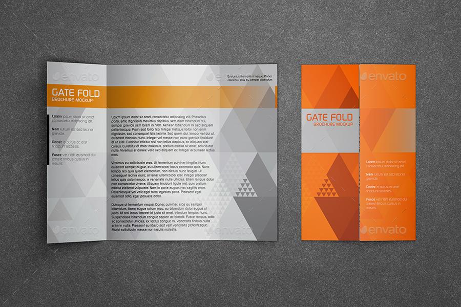 Realistic Gate Fold Brochure Mockup by Kipet – Gate Fold Brochure Mockup