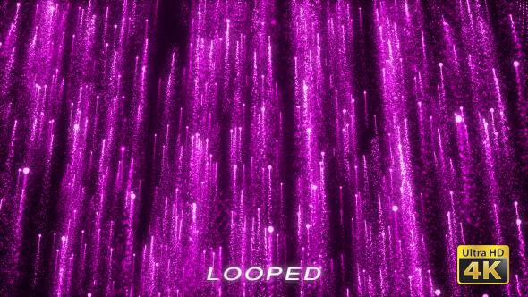 Violetti hiukkaset Rising Tausta - Tapahtumat Taustat Motion Graphics