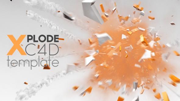 Download XPLODE C4D Logo Animation nulled download