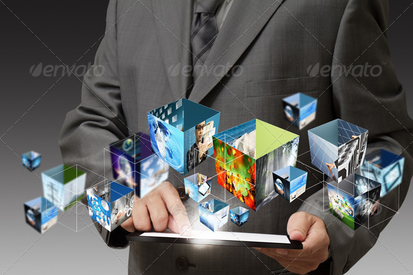 touch pad computer - Stock Photo - Images