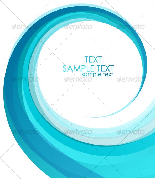 Blue swirl design - Backgrounds Business