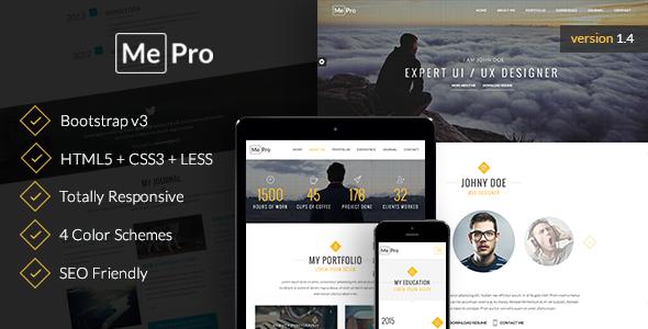 13. MePro - Creative Personal & Portfolio Template