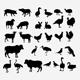 Livestock Silhouettes