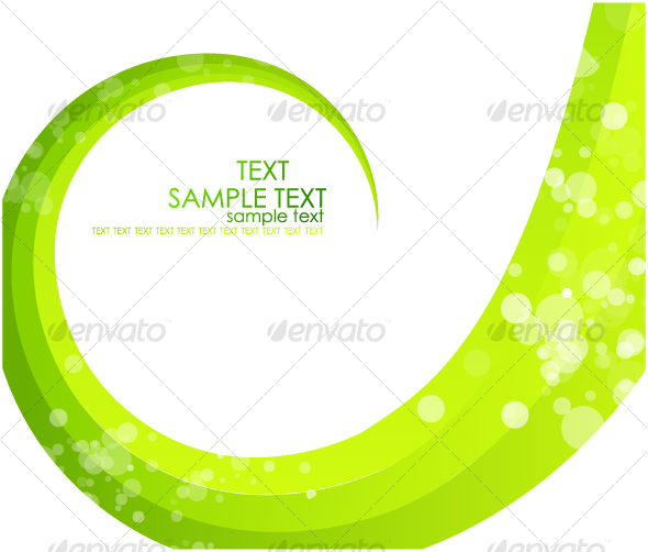Green swirl background - Backgrounds Business