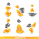Abstract glass orange shapes - GraphicRiver Item for Sale