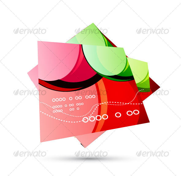 Glossy red pages - Decorative Vectors