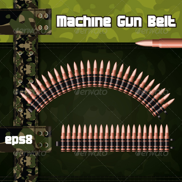 Machine gun belts