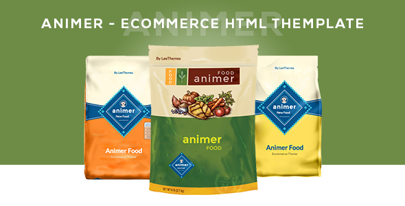 Animer - Pet Food eCommerce Bootstrap Template