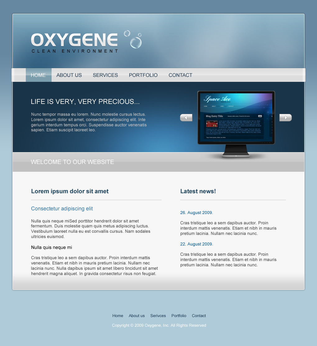 Oxygene - clean environment