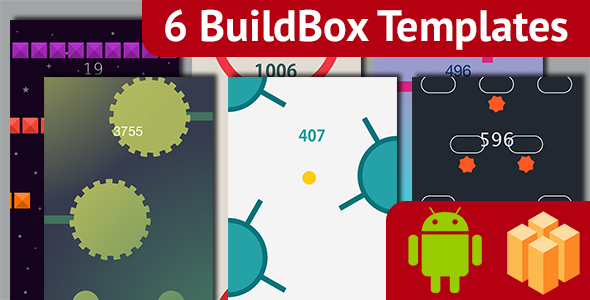 6 Amazing BuildBox Game Templates (Bundle 3): Android; Easy Reskin; AdMob & Chartboost Ads
