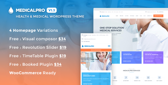 19 - MedicalPro - Health and Medical WordPress Theme