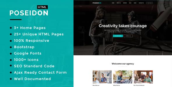 Poseidon - Multipurpose Responsive HTML5 Template