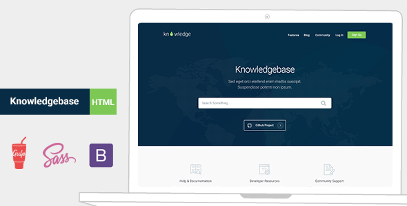 Knowledge - Knowledgebase & Documentation HTMl Template