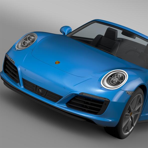 3DOcean Porsche 911 Carrera 4 Cabriolet 991 2016 16046539