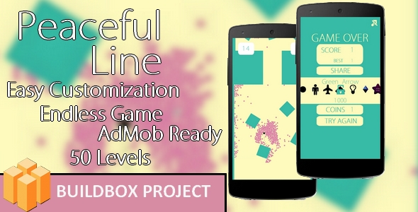 Peaceful Line - Buildbox & Eclipse Game Template - CodeCanyon Item for Sale