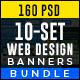 Web Design Banners Bundle - 10 Sets - 160 Banners