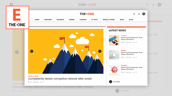 The One - Responsive Blog, News, & Magazine Theme