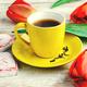 tea bouquet of tulips