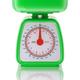Green kitchen scale