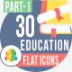 30 Education Flat icons 1