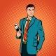 Businessman Concept Comics Style