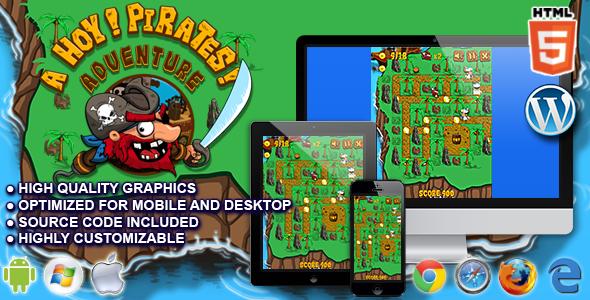 Ahoy! Pirates Adventure - HTML5 Arcade Game