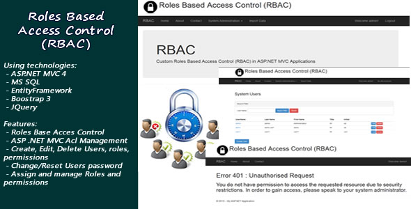 Roles Based Access Control(RBAC) in ASP.NET MVC