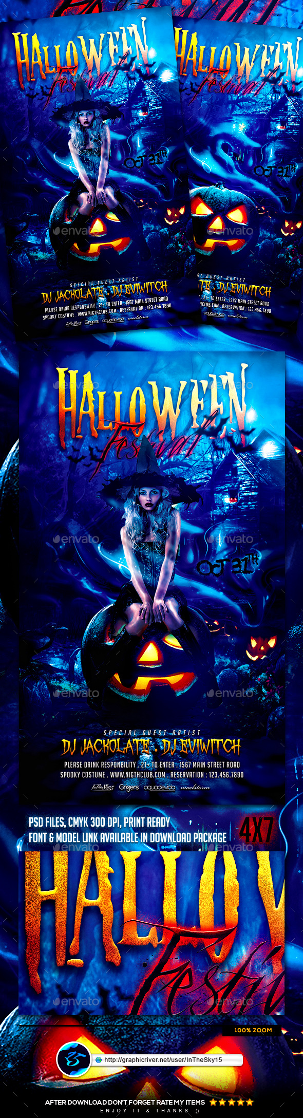 Halloween Festival Flyer Template