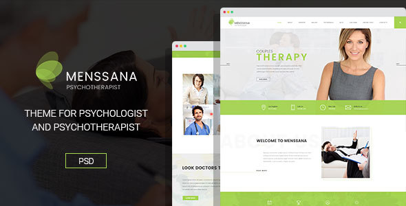 Menssana - Psychologist and Psychotherapist PSD Template