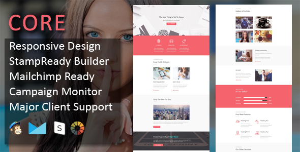 CORE - Multipurpose Responsive Email Template + Stampready Builder