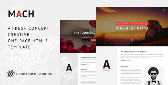 MACH - Fresh Concept One Page Creative HTML5 Template