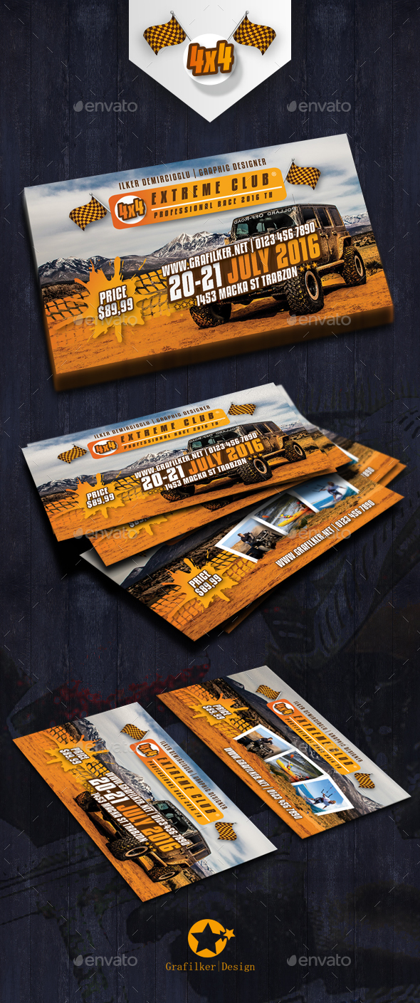 Extreme Sport Business Card Templates
