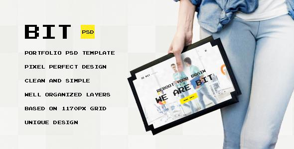 Bit — Original Digital Pixel Art Portfolio PSD Template