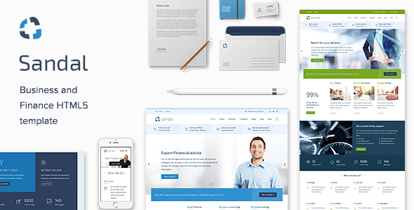 Finance & Consultancy Business HTML Template - Sandal