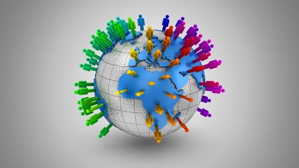 Kasvu Social Network - 3D, Object Taustat Motion Graphics