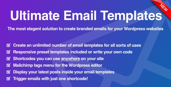 Download Ultimate Email Template System for WordPress nulled download