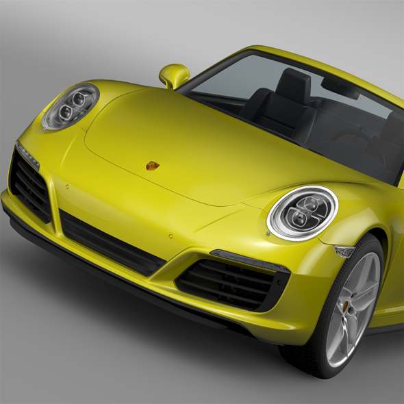 Porsche 911 Carrera S Cabriolet 991 2016 - 3DOcean Item for Sale
