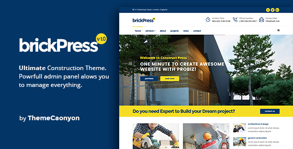 BrickPress - Construction & Building Template