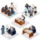 Office Life Isometric