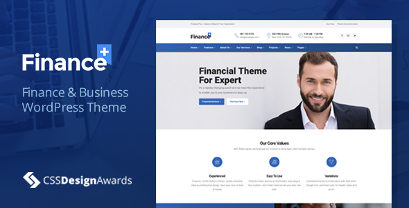FinancePlus - Finance & Business WordPress Theme